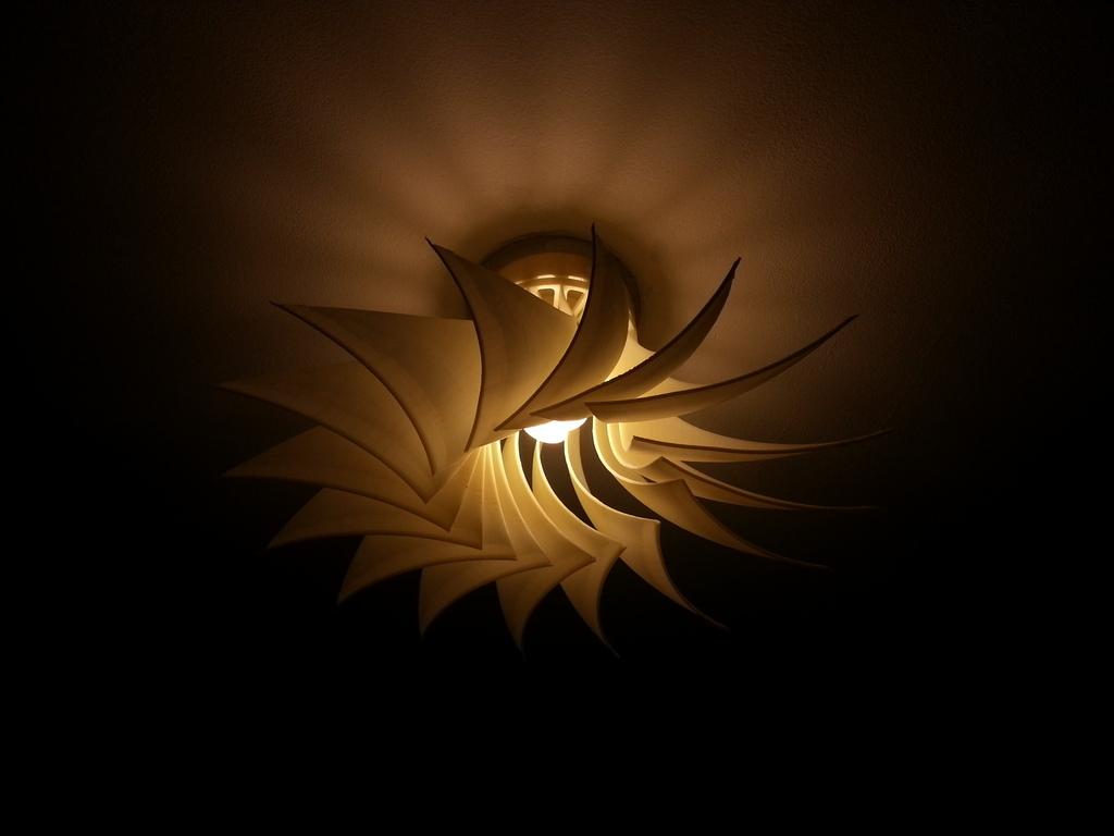 5 lámparas espectaculares en impresión 3D