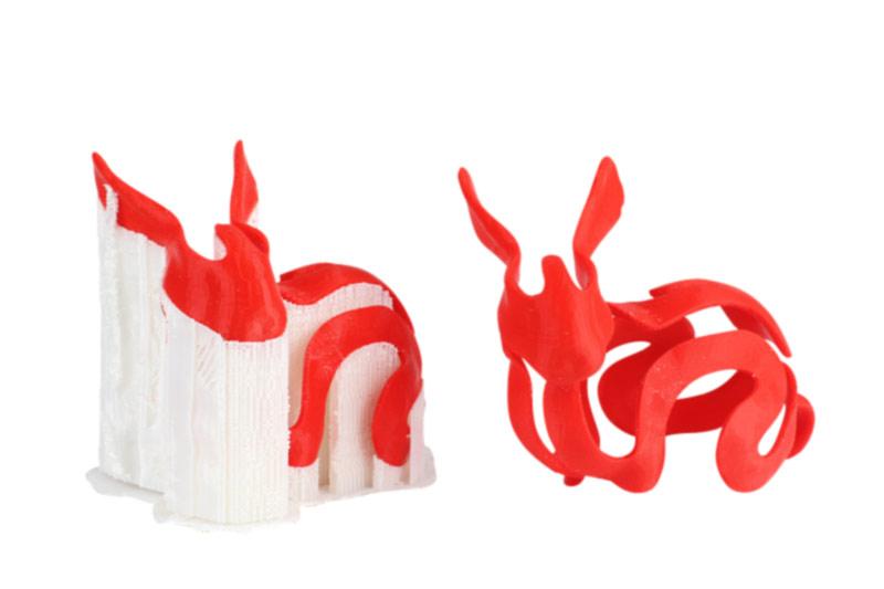 ¿Qué es el material de soporte en la impresión 3D?
