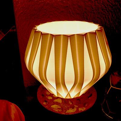 Pantalla para lámpara impresa en 3D